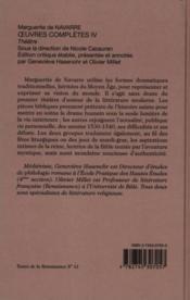 Oeuvres completes t.4 ; theatre - Couverture - Format classique