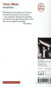 Panthéon - 4ème de couverture - Format classique