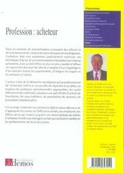 Profession : acheteur - 4ème de couverture - Format classique