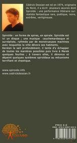 Spiroïde - 4ème de couverture - Format classique