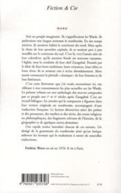 Ward ; Ier - IIe siècle - 4ème de couverture - Format classique