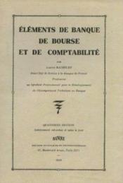 Eléments de banque, de bourse et de comptabilité - Couverture - Format classique