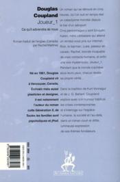 Joueur 1 - 4ème de couverture - Format classique