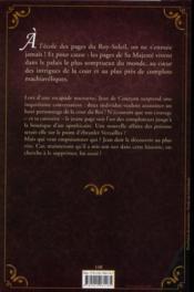 L'autre affaire des poisons ; à l'école des pages du roy soleil t.3 - 4ème de couverture - Format classique