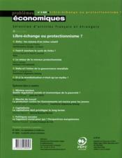 Problemes Economiques N.3032 ; Libre Echange Ou Protectionisme ? - 4ème de couverture - Format classique