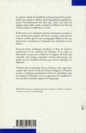 Le premier champ de bataille du calvinisme ; conflits et réformes dans le Pays de Vaud - 4ème de couverture - Format classique
