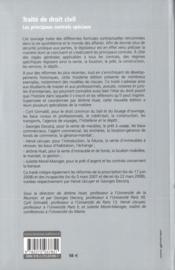 Les principaux contrats spéciaux (3e édition) - 4ème de couverture - Format classique