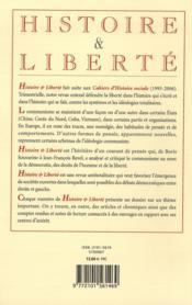 Revue Histoire Et Liberte N.46 ; Le Politiquement Correct - 4ème de couverture - Format classique