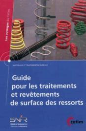 Guide pour les traitements et revetements de surface des ressorts 2b57 - Couverture - Format classique