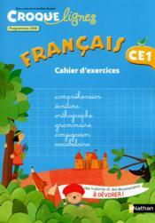CROQUE LIGNES ; français, CE1 ; cahier d'activités (édition 2012) - Couverture - Format classique
