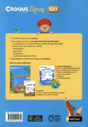 CROQUE LIGNES ; français, CE1 ; cahier d'activités (édition 2012) - 4ème de couverture - Format classique