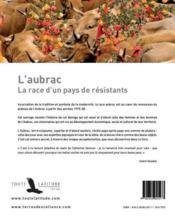 L'Aubrac ; la race d'un pays de résistants - 4ème de couverture - Format classique