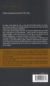 Origine étrangère - 4ème de couverture - Format classique
