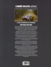 L'année rallyes 2012-2013 - 4ème de couverture - Format classique