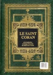 Le saint Coran - 4ème de couverture - Format classique
