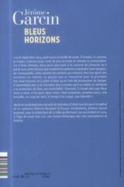 Bleus horizons - 4ème de couverture - Format classique