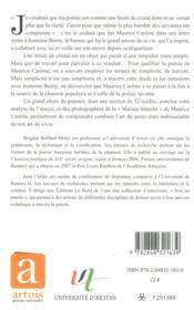 Maurice careme - 4ème de couverture - Format classique