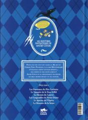 Les aventures fantastiques de Sacré Coeur ; les loups-garous de Montparnasse - 4ème de couverture - Format classique