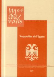 Temporalités de l'Egypte - Couverture - Format classique