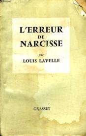L Erreur De Narcisse. - Couverture - Format classique