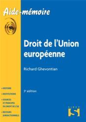 Droit de l'Union européenne (5e édition) - Couverture - Format classique