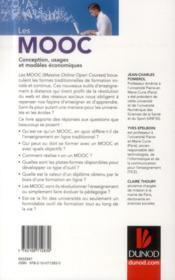 Les MOOC ; conception, usages et modèles économiques - 4ème de couverture - Format classique