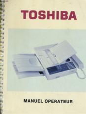 Toshiba - Manuel Operateur - Telepieur Tf252f - Couverture - Format classique