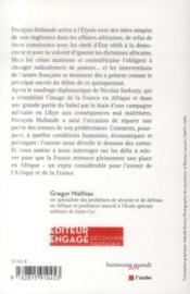 Les guerres africaines de Francois Hollande - 4ème de couverture - Format classique