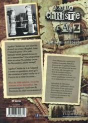 Agatha Christie de A à Z - 4ème de couverture - Format classique