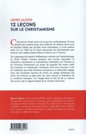 12 leçons sur le christianisme - 4ème de couverture - Format classique
