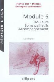 Module 6 : douleurs, soins palliatifs, accompagnement - Intérieur - Format classique