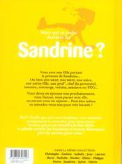 L'encyclopedie des prenoms - tome 14 - sandrine - 4ème de couverture - Format classique