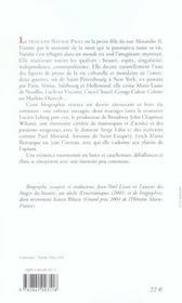 Nathalie paley princesse exil - 4ème de couverture - Format classique
