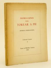 Instrucciones para Torear a Pie (Primeras Ordenaciones) - Couverture - Format classique