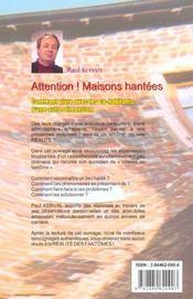 Les Maisons Hantees - 4ème de couverture - Format classique