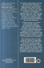 Les grandes affaires criminelles du bourbonnais - 4ème de couverture - Format classique