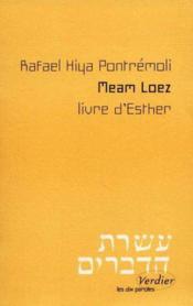 Meam loez, livre d'esther - Couverture - Format classique