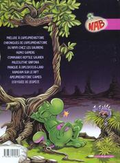 Nab t.10 ; l'odyssee de l'espece - 4ème de couverture - Format classique