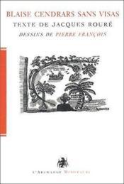 Blaise Cendrars sans visas - Couverture - Format classique