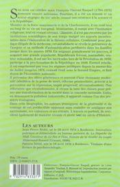 Francois Vincent Raspail - 4ème de couverture - Format classique