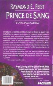 Krondor - l'entre-deux-guerres T.1 ; prince de sang - 4ème de couverture - Format classique