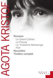 Romans, nouvelles, théâtre complet - Couverture - Format classique