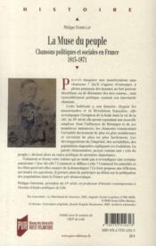 La muse du peuple ; chansons politiques et sociales en France (1815-1871) - 4ème de couverture - Format classique