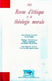 Revue D'Ethique Et De Theologie Morale N.262 - Couverture - Format classique