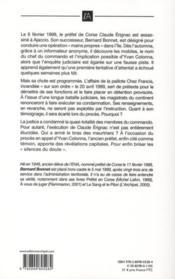 Colonna, les silences du doute - 4ème de couverture - Format classique