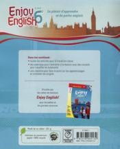 NEW ENJOY ENGLISH ; 6ème ; workbook (édition 2011) - 4ème de couverture - Format classique
