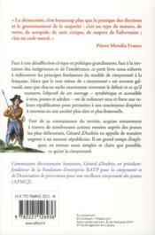 République mon amour ! ; la citoyenneté à la française - 4ème de couverture - Format classique