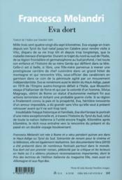 Eva dort - 4ème de couverture - Format classique