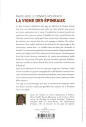 La vigne des épineux ; une saga paysanne aux marches de l'Anjou - 4ème de couverture - Format classique