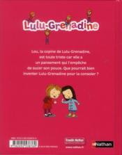 Lulu-grenadine ne veut plus sucer son pouce - 4ème de couverture - Format classique
